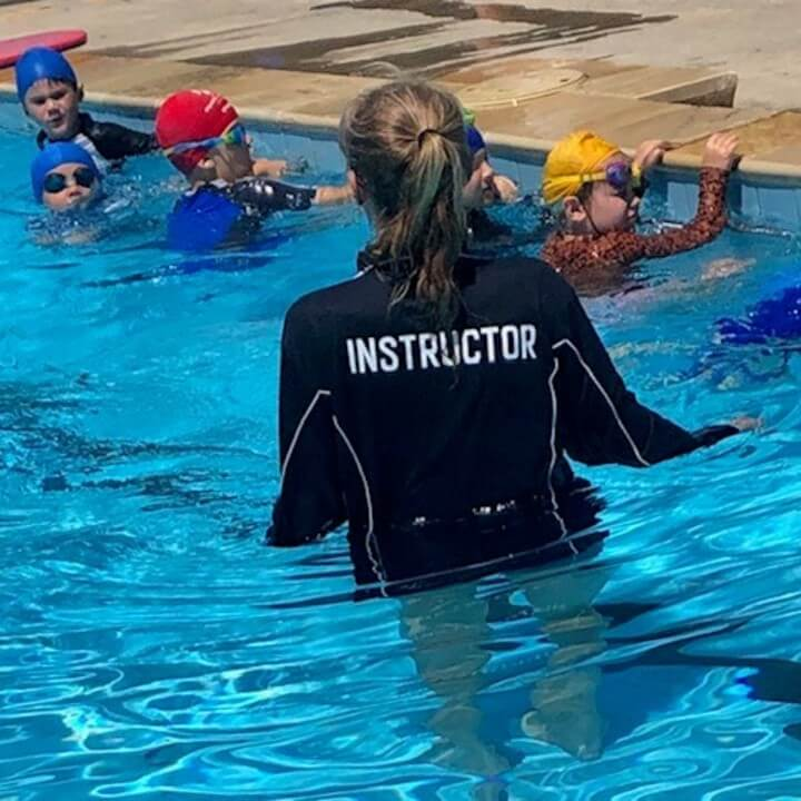 Swim instructor mentors group